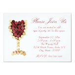 "Cork Wine Glass Invitations 4.5"" X 6.25"" Invitation Card"