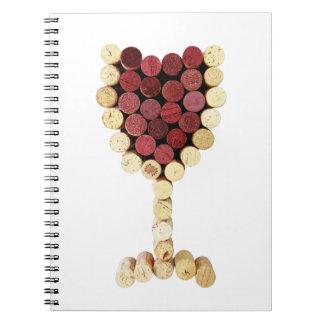 Cork Wine Glass Notebook