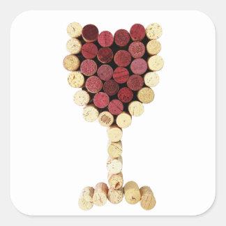 Cork Wine Glass Stickers