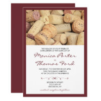 Cork Wine Themed Wedding Invitation