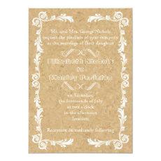 Cork with vintage frame wedding 5