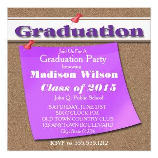 Corkboard / Bulletin Board Graduation Invitations