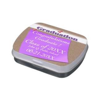 Corkboard Graduation Candy Tins Party Favors
