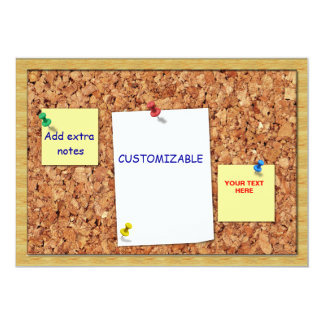 Corkboard Greeting with Note Papers Customizable Card