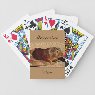 Corkboard Look Guinea Pig Bicycle Playing Cards