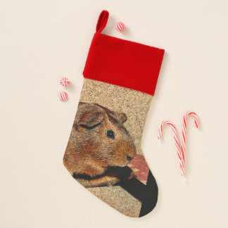 Corkboard Look Guinea Pig Christmas Stocking