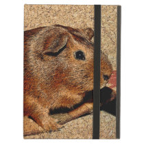 Corkboard Look Guinea Pig iPad Air Cover