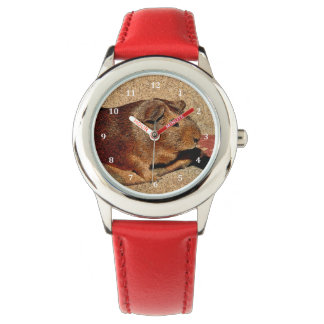 Corkboard Look Guinea Pig Wristwatch