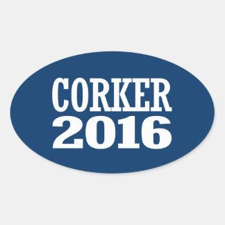 CORKER 2016 OVAL STICKER