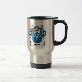 Corker Family Crest Coffee Mugs