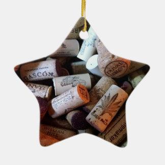Corks a plenty ceramic ornament