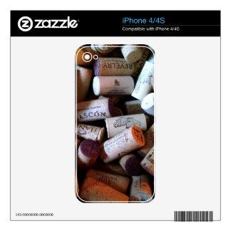 Corks a plenty iPhone 4S skins