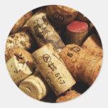 'Corks' Envelope Seal Round Sticker