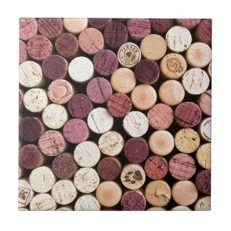 Corks on End Ceramic Tile