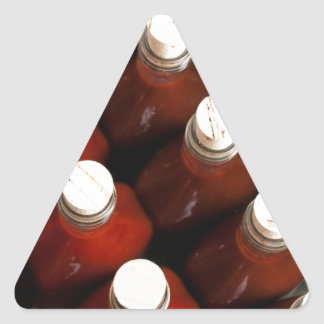 Corks on hot sauces triangle sticker