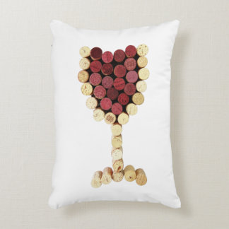 Corks Wine Glass Accent Pillow