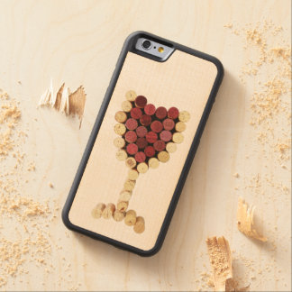 Corks Wine Glass iPhone & Samsung Galaxy Wood Case Carved® Maple iPhone 6 Bumper Case