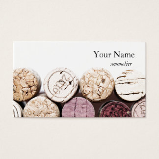 Corks winemaking sommelier business card