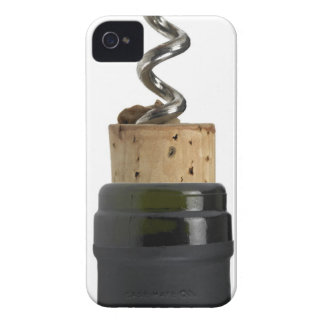 Corkscrew and cork, photographed on white iPhone 4 Case-Mate case