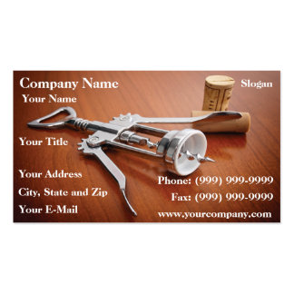 Corkscrew Business Card Template