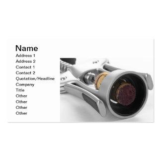 Corkscrew Business Card