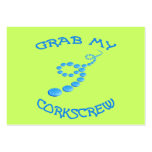 Corkscrew Frisbee Large Business Cards (Pack Of 100)