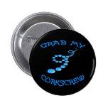 Corkscrew Frisbee Button