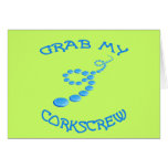 Corkscrew Frisbee Card
