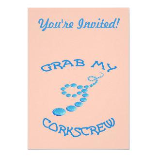 Corkscrew Frisbee Invitations