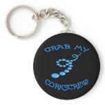 Corkscrew Frisbee Keychain