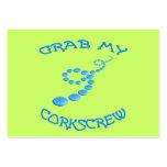 Corkscrew Frisbee Large Business Card