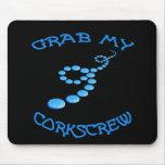 Corkscrew Frisbee Mouse Pad