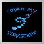 Corkscrew Frisbee Poster