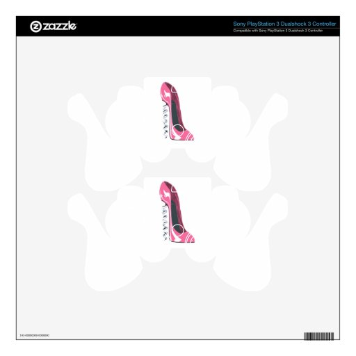Corkscrew Pink Stiletto Shoe PS3 Controller Decal