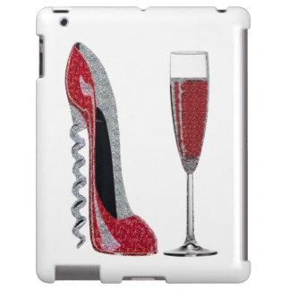Corkscrew Red Stiletto and Champagne iPad Case