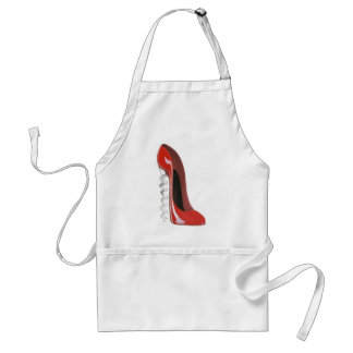 Corkscrew Red Stiletto Shoe apron