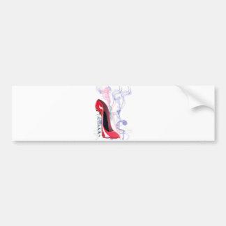 Corkscrew Red Stiletto Shoe Bumper Sticker