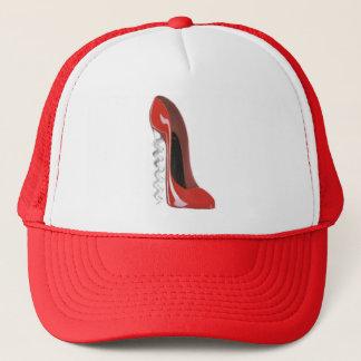 Corkscrew Red Stiletto Shoe hat