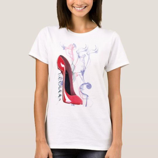 Corkscrew Red Stiletto Shoe T-Shirt