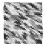 Corkscrew Shaped Black and White Pattern Bandana