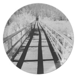 Corkscrew Swamp Sanctuary boardwalk, Florida, Plate
