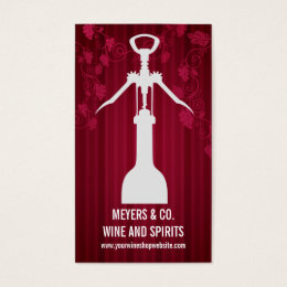 Liquor bottles business cards templates zazzle corkscrew wine shop business card colourmoves