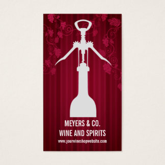 Corkscrew Wine Shop Business Card
