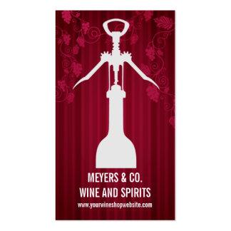 Corkscrew Wine Shop Business Card Templates