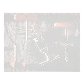 Corkscrews for kitchen work letterhead