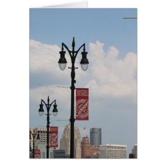 Corktown, tarjeta de felicitación de Detroit,