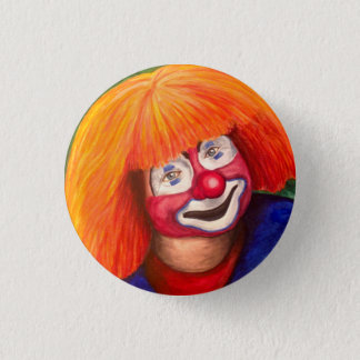 Corky The Clown Pinback Button