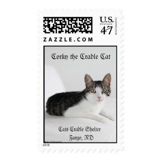 Corky the Cradle Cat Postage Stamps