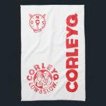 "CorleyQ Kitchen Towel<br><div class=""desc"">Kitchen Towel (24&quot; x 16&quot;) featuring the CorleyQ logo and the &quot;Low &amp; Slow&quot; clock.</div>"