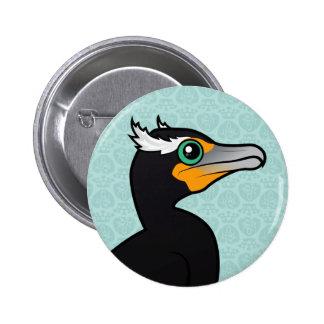 Cormorán Doble-con cresta de Birdorable Pin